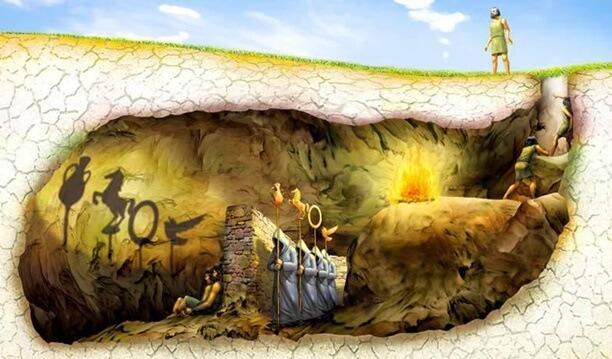 caverna de platão - mito da caverna - O mito da caverna de Platão